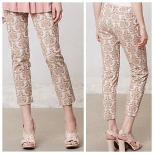 Anthropologie Charlie Brocade Trousers